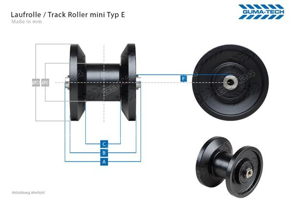Laufrolle/Track Roller d.f