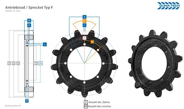 Antriebsrad/Sprocket Z=15